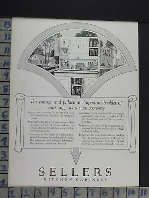 1926 Sellers Cabinet Kitchen Housewife Elwood Home Decor Vintage Art Ad  Cn46
