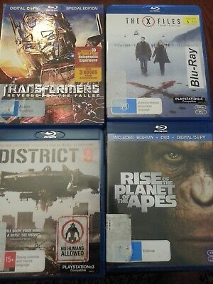 blu ray movies, action x 8ea