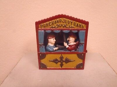 Cast Iron Mechanical Punch & Judy Bank - The Book of Knowledge