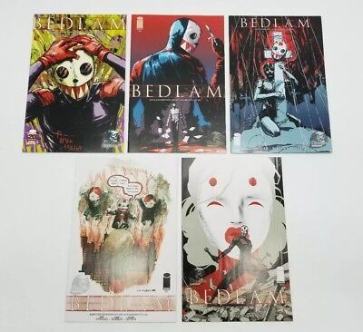 Bedlam 2 3 4 5 6 Phantom Variant Lot of 5 Image Comic Book Set NM