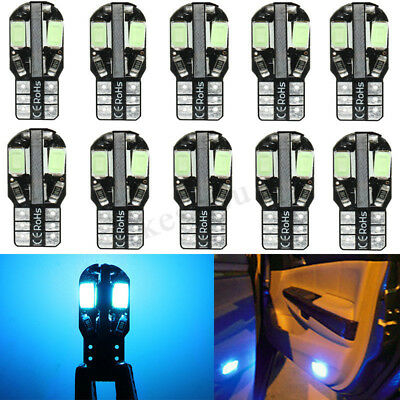 10 x Ice Blue Canbus T10 194 W5W 5730 8 LED SMD Car Side Wedge Light Lamp