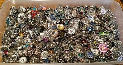 12mm Charm Crystal Alloy Pendant Snap Chunk Button Fit For Noosa Necklace NSDZ10
