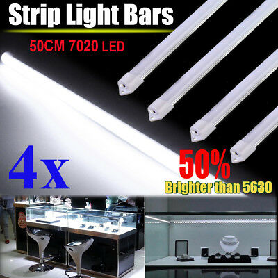 4X12V Waterproof Cool White 7020 Led Strip Light Bar Camping avan Boat