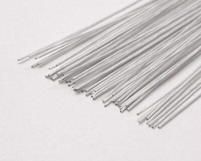 33 Fine Gauge White Paper Covered Florists Wire Florist Work or Cake Decorating