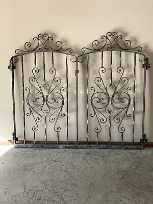 Heavy Duty Wrought Iron Garden Gates. 1500mm X 945mm Including Hinges.