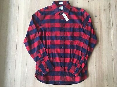 ed59823d645b NWT J.CREW SLIM Brushed Midweight Flannel Shirt in Buffalo Plaid M ...