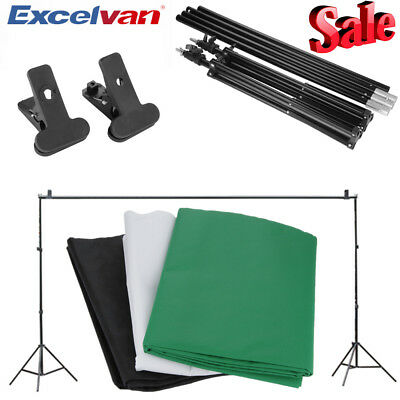 Photography Background Screen Green Black White Studio Backdrop Stand Kit Set UK