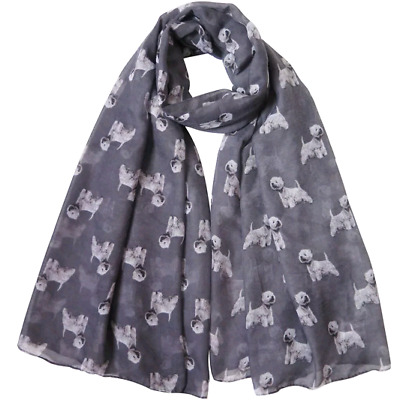 Westie Dog Print Ladies Scarf New To Range Lovely Gift For Westie Fans Uk Seller