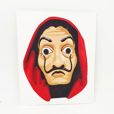 La Casa de Papel Salvador Dali Mask Sticker Decal - Decor Money Heist Art Print