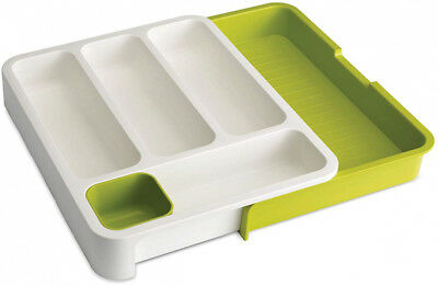 DrawerStore Expandable Cutlery Tray, Green