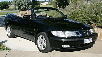 2001 Saab 9-3 S Luxury Black Convertible, Automatic with RWC & Registration
