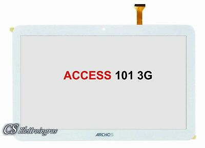 ARCHOS ACCESS 101 3G ricambio Vetro Touch Screen Digitilizer 10.1 Bianco