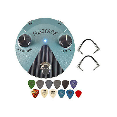 Dunlop FFM3 Hendrix Fuzz Face Mini Distortion Pedal with Patch Cables and Picks