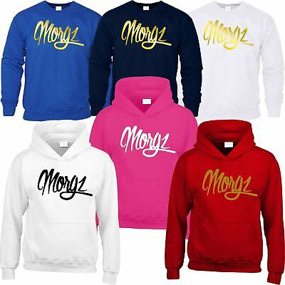 Morgz Hoodie Sweat Kids Team Morgz Youtuber Girls Boys Top Hooded Sweatshirt