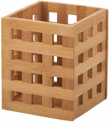 Essentials Lattice Bamboo Utensil Holder