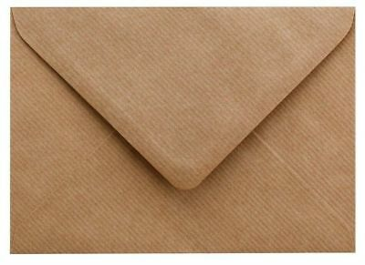 Kraft Ribbed Envelopes, Brown, - C7 C6 C5 DL 130 155 164 Square + More Sizes