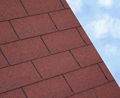 RED SUPER 3 Tab Felt Roofing Shingles   3 sqm packs   Free Delivery