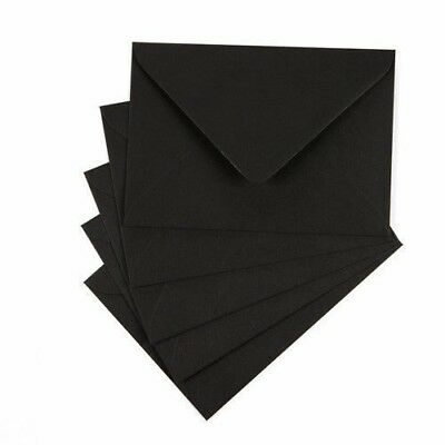 Black Envelopes - C7 C6 C5 DL 130mm 155mm Square Envelopes