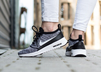 newest 3c156 bdfe5 NIKE AIR MAX THEA ULTRA FLYKNIT 881175-001 chaussures femmes sport losir  noir