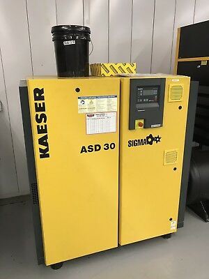 VERY GOOD Kaeser Variable Speed Rotary Screw Air Compressor with Dryer Package