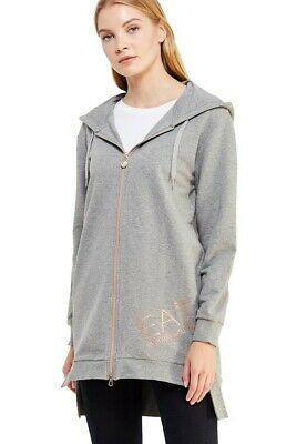 Felpa Donna Train Logo Full Zip Hoodie Ea7