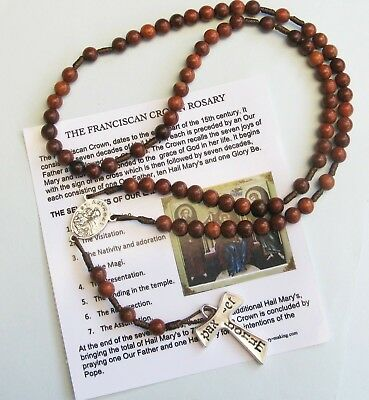 Franciscan Crown 7 decade rosewood type Rosary