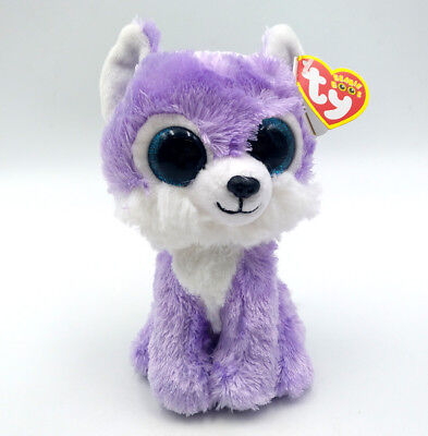 "6"" TY Beanie Boo Iris Kid Gift Plush Toy Great Wolf Lodge Exclusive Glitter Eyes"