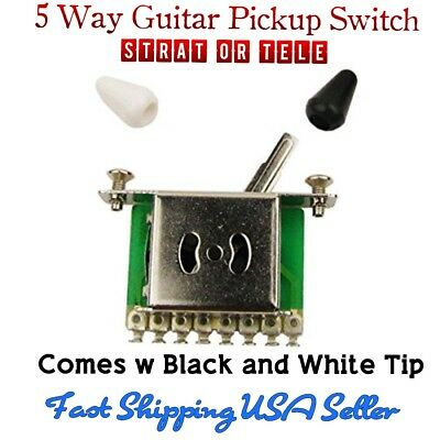 5-Way Guitar Pickup Toggle Switch. Fits Stratocaster, Tele, Ibanez,  ESP & More