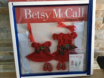 "Tonner BETSY McCALL Collection 14"" Vinyl Doll Clothes XMAS DRESS Set OUTFIT NRFB"