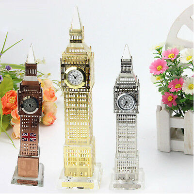 Glass Real Working Big Ben Clock Coloured changing Lights Ornament Gift