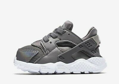 f4db23570488 Nike Huarache Run (TD)   704952 013 Gunsmoke Grey Toddler SZ 3 !