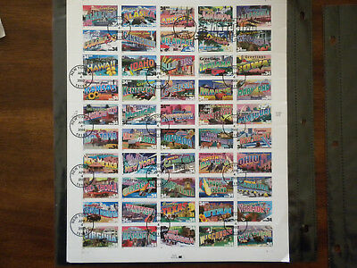 Us Scott # 3561-3610 Greeting From America Used Sheet Nh