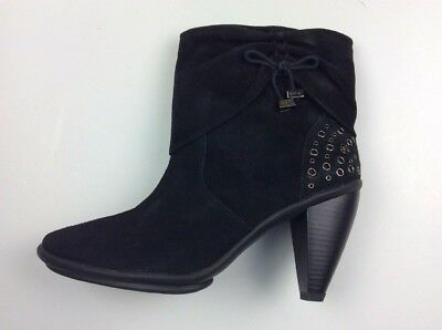 b770fcd26eefa LIBBY EDELMAN LADIES Black Suede Ankle Boots New with Box Sz 9 5A ...