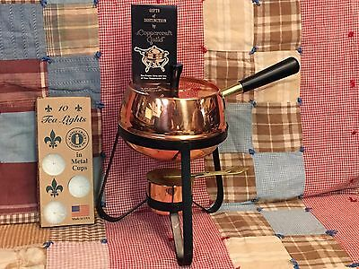 Coppercraft Guild Vintage Copper Fondue Set