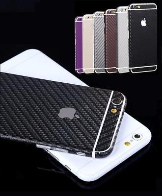 FULL BODY 3D Carbon Fibre STICKER SKIN CASE COVER for iPHONE 4 5 5S 5C 6 6S Plus