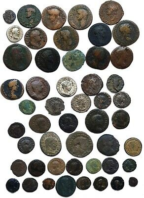 Rome - Great collection of ROMANS COINS composed by 50 emperors and usurpers