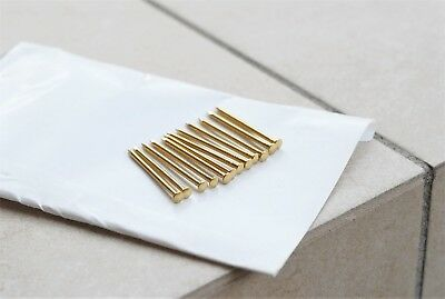 12 Pins Brass Rod Straight Razor Pin
