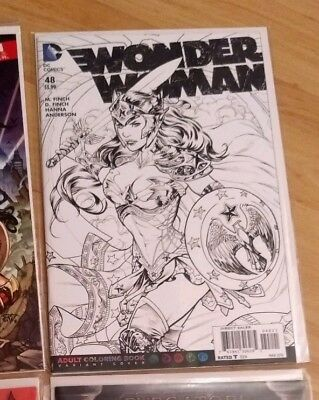 Wonder Woman #48 Coloring Book Variant Finch