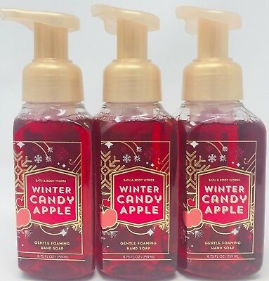 3 Bath & Body Works Winter Candy Apple Gentle Foaming Hand Soap Wash Foam 8.75Oz
