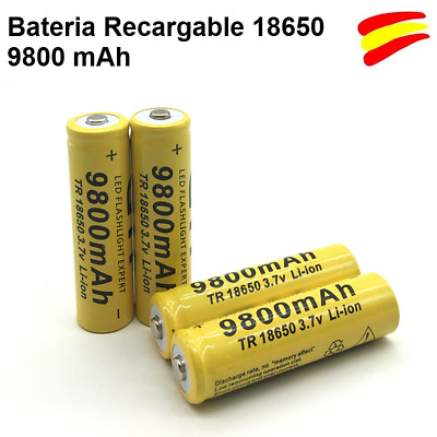 Batería Recargable o Pila Li-on  18650 de 9800 mAh de 3.7V Lion