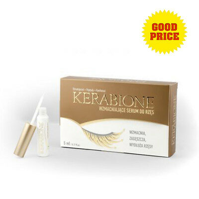 Kerabione Serum Eyelashes Eyebrow Strengthening Growth Long Thick Liquid 5ml