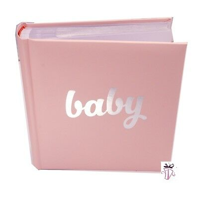Baby Girl Pink Quality Photo Safe Archival 200 Slip In Photo Album Baby Boy Gift
