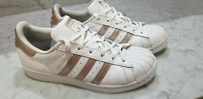 6ba4a9db78f ADIDAS NEO BASELINE Kid s Girl s Shoes Metallic Rose Gold White ...