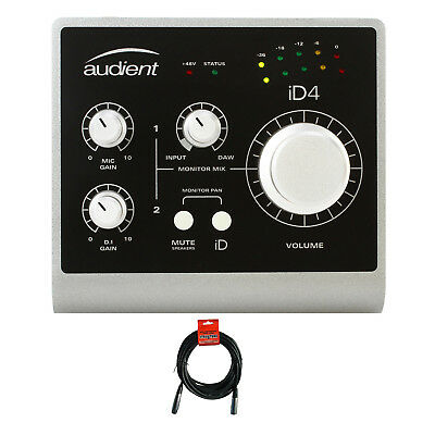 Audient iD4 USB Audio Interface with Microphone Cable