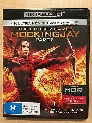 The Hunger Games Mockingjay Part 2 (4K Uhd + Blu-Ray + Uv) New Region B