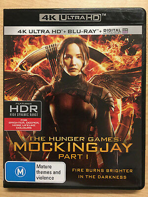 The Hunger Games Mockingjay Part 1 (4K Uhd + Blu-Ray + Uv) New Region B