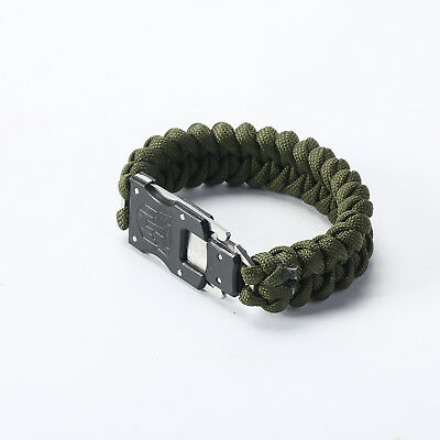 Outdoor Survival Bracelet Braided Paracord Multi-function Camping Rescue Knife