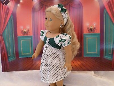 St. Patrick's Day Dress, Fits 18 inch American Girl Doll, Outfit, Clothes
