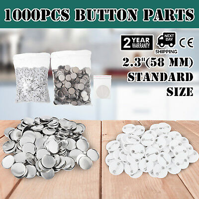 1000Pcs 58mm Button for Badge Maker Machine easy operate Supplies  All metal