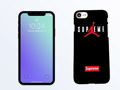 hot sale online 6a2b1 7edec SUPREME MICHAEL JORDAN Case For iPhone XR,XS Max,6s,6 plus,7,7plus,8,  8Plus, SE